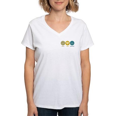 Peace Love Mediation Women's V-Neck T-Shirt