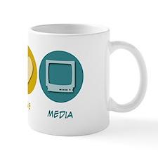 Peace Love Media Mug
