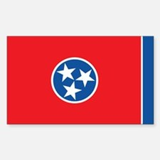 TENNESSEE-FLAG Rectangle Decal