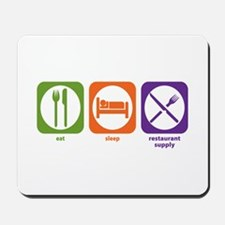 Eat Sleep Restaurant Supply Mousepad