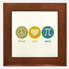 Peace Love Math Framed Tile