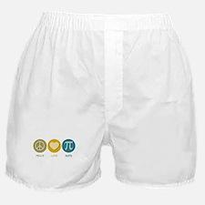 Peace Love Math Boxer Shorts