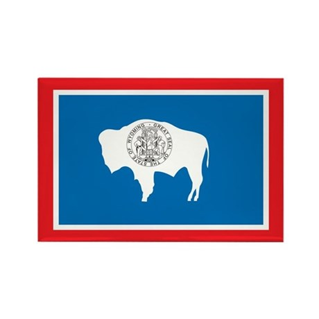WYOMING-FLAG Rectangle Magnet