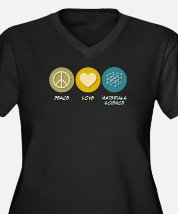 Peace Love Materials Science Women's Plus Size V-N