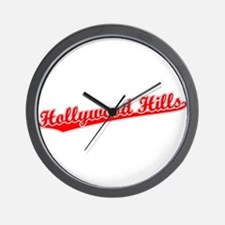 Retro Hollywood Hi.. (Red) Wall Clock