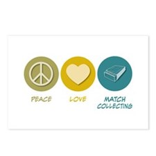 Peace Love Match Collecting Postcards (Package of