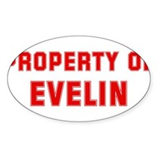 Property of EVELIN Oval Decal