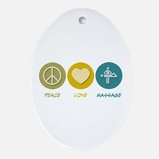 Peace Love Massage Oval Ornament