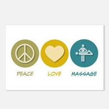 Peace Love Massage Postcards (Package of 8)