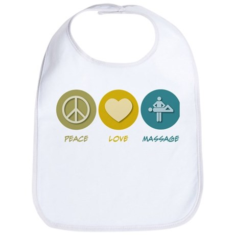 Peace Love Massage Bib