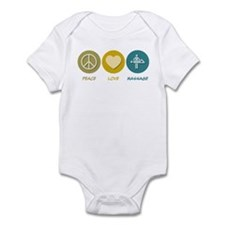 Peace Love Massage Infant Bodysuit