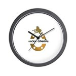 LUCKY COWGIRL HORSESHOE  Wall Clock