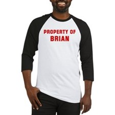 Property of BRIAN Baseball Jersey