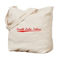 Vintage South Lake.. (Red) Tote Bag