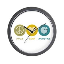 Peace Love Marketing Wall Clock