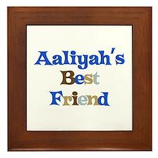 Aaliyah's Best Friend Framed Tile