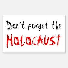 Holocaust Rectangle Decal