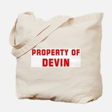 Property of DEVIN Tote Bag