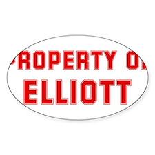 Property of ELLIOTT Oval Decal