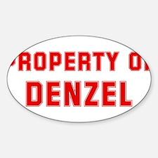 Property of DENZEL Oval Decal