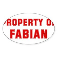 Property of FABIAN Oval Decal