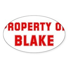 Property of BLAKE Oval Decal