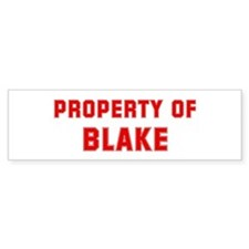 Property of BLAKE Bumper Bumper Sticker