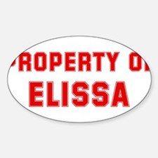 Property of ELISSA Oval Decal