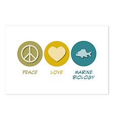 Peace Love Marine Biology Postcards (Package of 8)