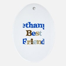 Bethany's Best Friend Oval Ornament