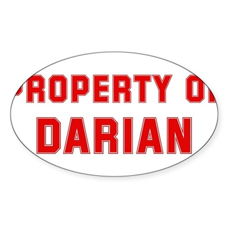Property of DARIAN Oval Sticker