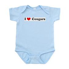 I Love Cougars Infant Creeper