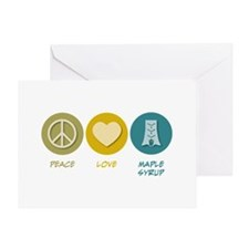 Peace Love Maple Syrup Greeting Card