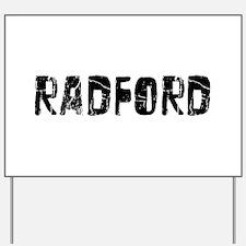 Radford Faded (Black) Yard Sign