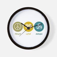 Peace Love Manga Wall Clock