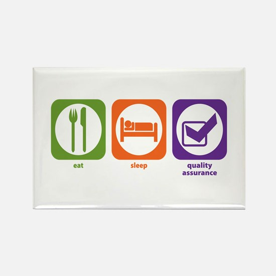 Eat Sleep Quality Assurance Rectangle Magnet