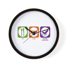 Eat Sleep Quality Assurance Wall Clock