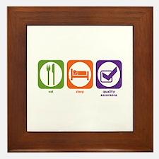 Eat Sleep Quality Assurance Framed Tile
