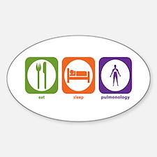 Eat Sleep Pulmonology Oval Decal