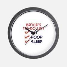 Bryce's To-Do List Wall Clock