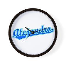 Retro Alejandro (Blue) Wall Clock