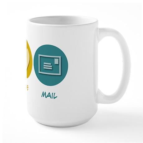 Peace Love Mail Large Mug