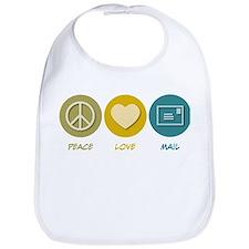 Peace Love Mail Bib