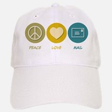 Peace Love Mail Baseball Baseball Cap