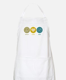Peace Love Mail BBQ Apron