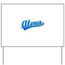 Retro Alena (Blue) Yard Sign