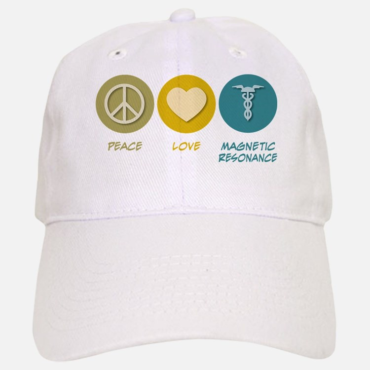 Peace Love Magnetic Resonance Baseball Baseball Cap