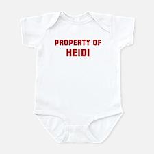 Property of HEIDI Infant Bodysuit