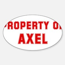 Property of AXEL Oval Decal