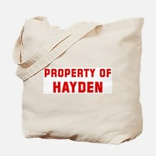 Property of HAYDEN Tote Bag